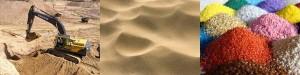 Песок карьерный, намывной, сеяный, сухой строительный, формовочный, речной и кварцевый